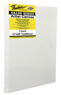 24 by 36-Inch Fredrix 5612 Ultra Smooth Stretched Canvas