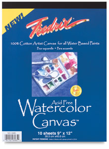 Fredrix Watercolor Canvas Pad