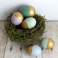 Gold Dipped Easter Eggs