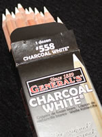 General Pencil White Charcoal Pencils