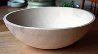 "17"" First Quality Beech Bowl"