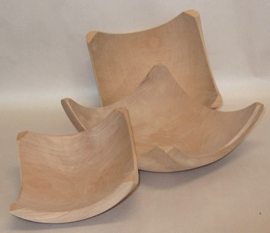 Square Wooden Bowls
