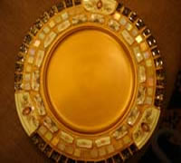 Mosaic Inside Beaded Rim Plate