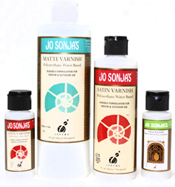 Jo Sonja Polyurethane Waterbased Gloss, Matte and Satin Varnishes