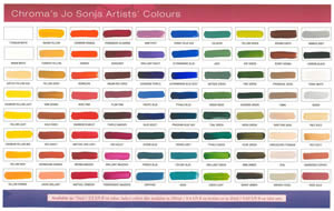 Chroma's Jo Sonja Artists Acrylic Color Swatches