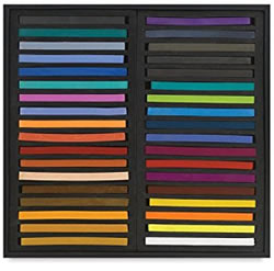 Jack Richeson Assorted Semi-hard Square Pastels, Set of 36