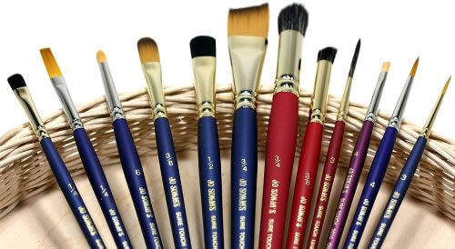 Jo Sonja's Sure Touch Artist Paint Brushes