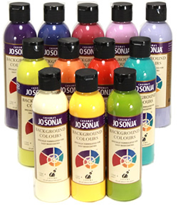 Jo Sonja's Clear Background Color Collection, 6 oz. Bottles