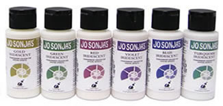 Jo Sonja Iridescent Paints, 2 oz.