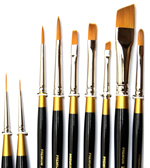 King Art Decorative Painting Teacher Brush Set, 9 Piece Cornell Family
