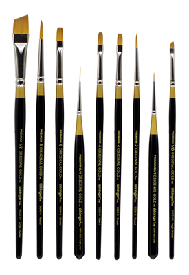 King Art (Cornell) Decorative Painting Teacher Brush Set, 9 Piece