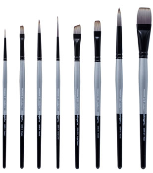 KingArt Premium Stellar Synthetic Brush Sets