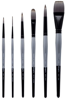 KingArt Stellar Synthetic Mixed Media Brush Set, 6 Piece