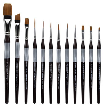 12 Piece Precision Brush Set, Short Handle