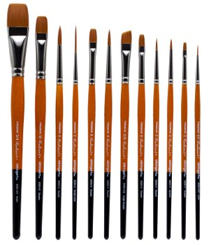 King Art 12 Piece Radiant All-Purpose Brush Set, 6000 Series