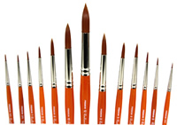 KingArt Radiant 6000 Series All-Purpose Taklon Brushes