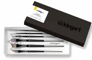 KingArt Stellar Premium Boxed Brush Set