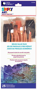 Loew Cornell Simply Art Value Brush Pack, 25 Piece