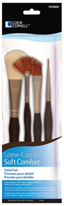 Soft Comfort Detail Brush Set, 4 Piece