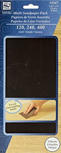 Loew Cornell Multi Sandpaper Pack, 3 Sheets