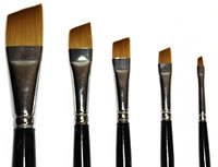 Loew Cornell 5 Piece Angular Shader Brush Set