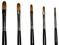 Loew Cornell 5 Piece Filbert Brush Set