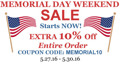 Hofcraft Memorial Day Sale 2016 - Save an extra 10% off your entire order! Coupon code: MEMORIAL10