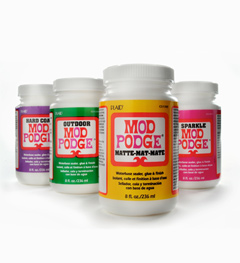 Plaid Mod Podge - Amazing all-in-one glue, sealer and finish for