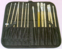 Easel Back Zippered Brush Case, Just Stow-it