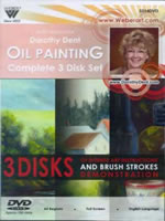 Getting Started Landscape and Still Life Oil Painting, 3-Disk Set - Dorothy Dent DVD