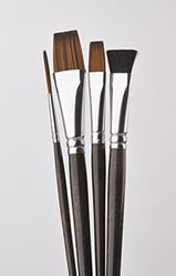 4 Piece One Stroke Fabric Brush Set