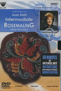 Intermediate Rosemaling in Oils 1 Hour DVD