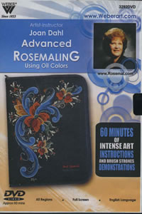 Advanced Rosemaling in Oils 1 Hour DVD