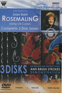 Joan Dahl Rosemaling Workshop DVD 3 Hour
