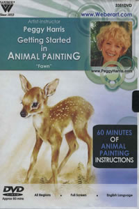 Peggy Harris Animal Painting Workshop DVD Fawn