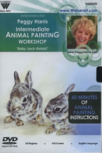 Intermediate Animal Oil Painting Baby Jack Rabbits, 1 Hour DVD