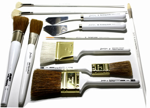 Bob Ross Landscape Painting Brushes
