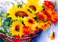 Bob Ross Basket of Sunflowers Painting Packet