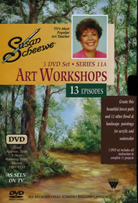 Susan Scheewe Art Workshops Series 11A 3 DVD Set Front Cover