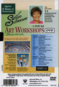 Susan Scheewe Art Workshops Series 11A 3 DVD Set Back Cover