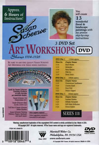 Susan Scheewe Art Workshop Series 11B 3 DVD Set Back Cover