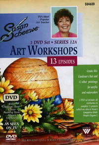 Susan Scheewe Art Workshop Series 12A 3 DVD Set Front Cover