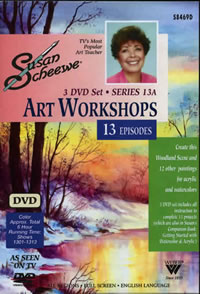Susan Scheewe Art Workshops - 3 DVD Set, 13 Episodes Front Cover