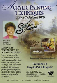 Susan Scheewe Acrylic Painting Technique 2 Hour DVD Front Cover