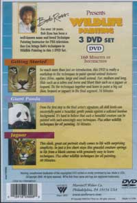 Bob Ross Wildlife Painting Three DVD Set with Instructor Bea Cox