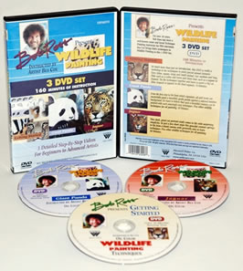 Bob Ross Wildlife Instructional Painting DVD Set of Three with Bea Cox
