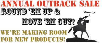 Annual Outback Sale - Save up to 70% on overstocks and close outs