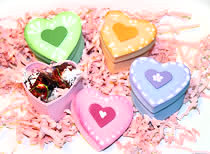 Paper Mache Heart Boxes Painted