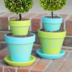 DecoArt Patio Paint Spring Topiary Pots