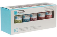 Martha Stewart Crafts 10 Color Glitter Paint Sampler
